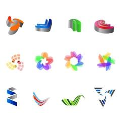 12 colorful symbols set 8 vector image