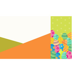art of easter egg collection vector image vector image