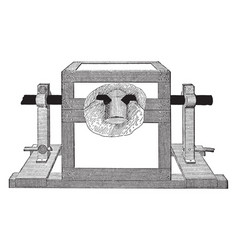 electric furance vintage vector image