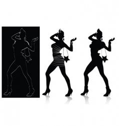 fashion silhouette set vector image