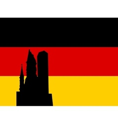 silhouette of berlin vector image vector image