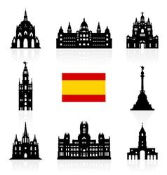 Spain Travel Landmarks Symbol vector image