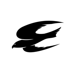 Abstract black of an hawk flying vector image