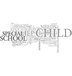 autism and the school system text word cloud vector image