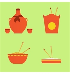chinase food and drink vector image vector image