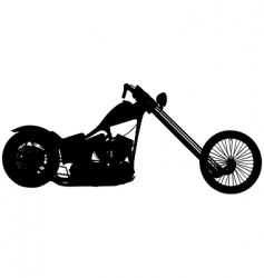 chopper motorbike vector image