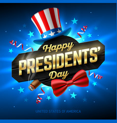 happy presidents day greeting card design with vector image vector image