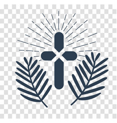silhouette icon palm sunday vector image