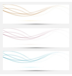 Transparent web headers with swoosh elements vector image vector image