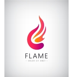 abstract colorful flame fire logo icon vector image vector image
