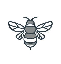 Bumblebee bee icon vector