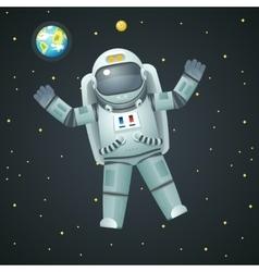 Cosmonaut realistic 3d astronaut spaceman space vector