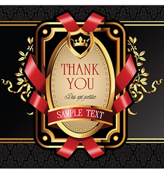 Golden royal lable vector image vector image