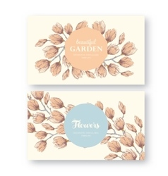vintage labels with flower vector image vector image