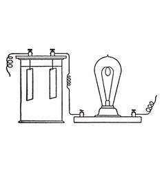 electric apparatus vintage vector image vector image