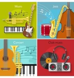 Flat Music Icon Set vector image