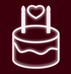 image of a birthday cake vector image