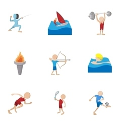 Kind of professional sports icons set vector image