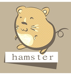 retro style hand drawn hamster with polka dots vector image vector image