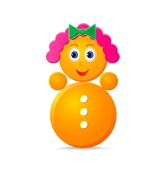roly-poly girl toy vector image