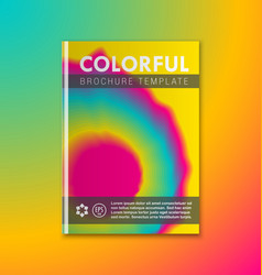 abstract brochure or book cover template vector image