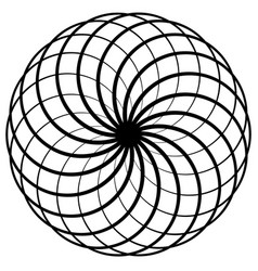 Abstract circular spirograph pattern on white art vector