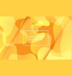 Abstract yellow orange geometric curve shape vector