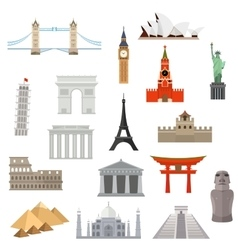 architecture monument or landmark icon vector image