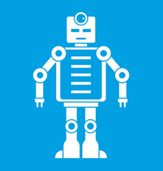 Artificial intelligence robot icon white vector
