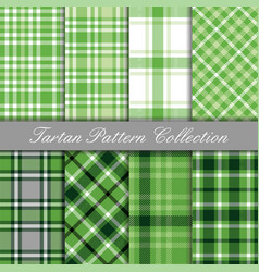 baby green collection tartan gingham patterns vector image