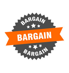 bargain sign circular band label round vector image