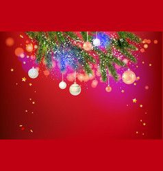 beautiful red holiday template vector image
