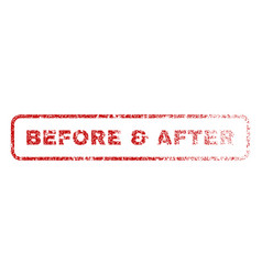 before after rubber stamp vector image