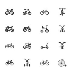 Bicycle type icons set vector