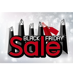 Black Friday Sale design with shopping bags vector image