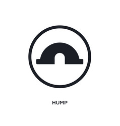 Black hump isolated icon simple element from vector