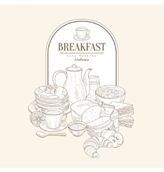 Breakfast Banner vector