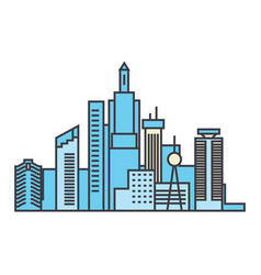 capital skyline line icon concept capital skyline vector image