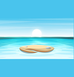 Cartoon island landscape vector