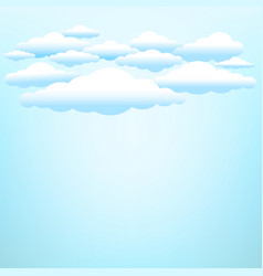 clouds on blue sky background vector image