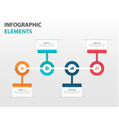 Colorful circle business timeline infographics vector