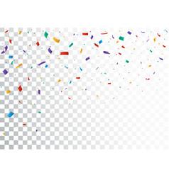 Colorful confetti celebration banner design vector