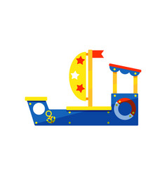 colorful ship for kids games children play area vector image