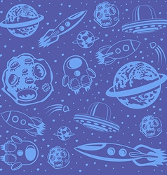 Cosmic Seamless Pattern vector image