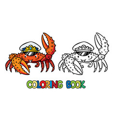 Crab coloring book vector