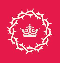 Crown thorns jesus christ vector