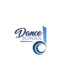 Dance school emblem vector