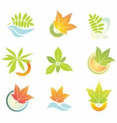 design elements with leaf vector image