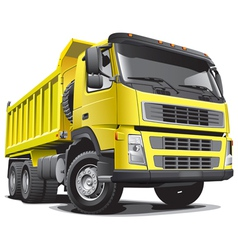 detailed image large yellow truck isolated vector image