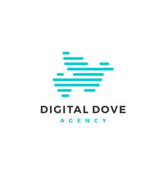 dove logo icon line outline monoline vector image